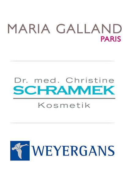 Hersteller Logos, Maria Galland, Schrammek, Weyergans